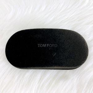 TOMFORD Brown Velvet Sunglasses Case